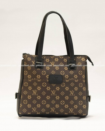 کیف بغل سگک louis vuitton سفید MT چرم شیفر دو زیپ